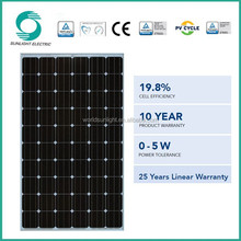 Made in China monocrystalline silicon 270w pv transparent solar panel price