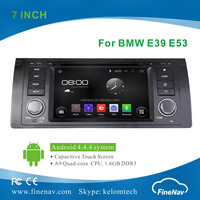 "7"" Quad Core pure Android 4.4.4 Car DVD for BMW E39 M5 X5 E53 with Gps,3G,Wifi,BT,Radio,AUX in,Ipod Support Rear View Camera,DVR"
