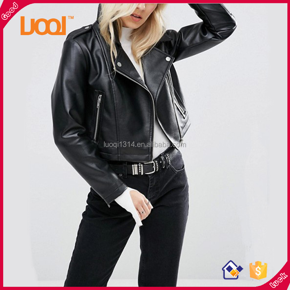 Wholesale High Quality Custom Biker Leather Jacket Women