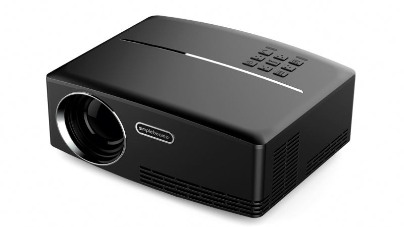 1800 ANSI Lumens GP80 Digital Cinema Projector Mini Home Cinema Projector