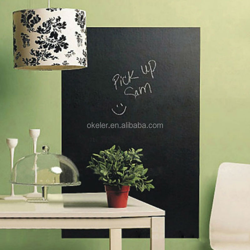 High Quality 45x200cm Blackboard Wall Sticker Chalkboard Decal Chalk Board with 5 Free Chalks