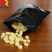 China Alibaba pe zipper bag black ziplock storage food plastic bag with food grade made in China