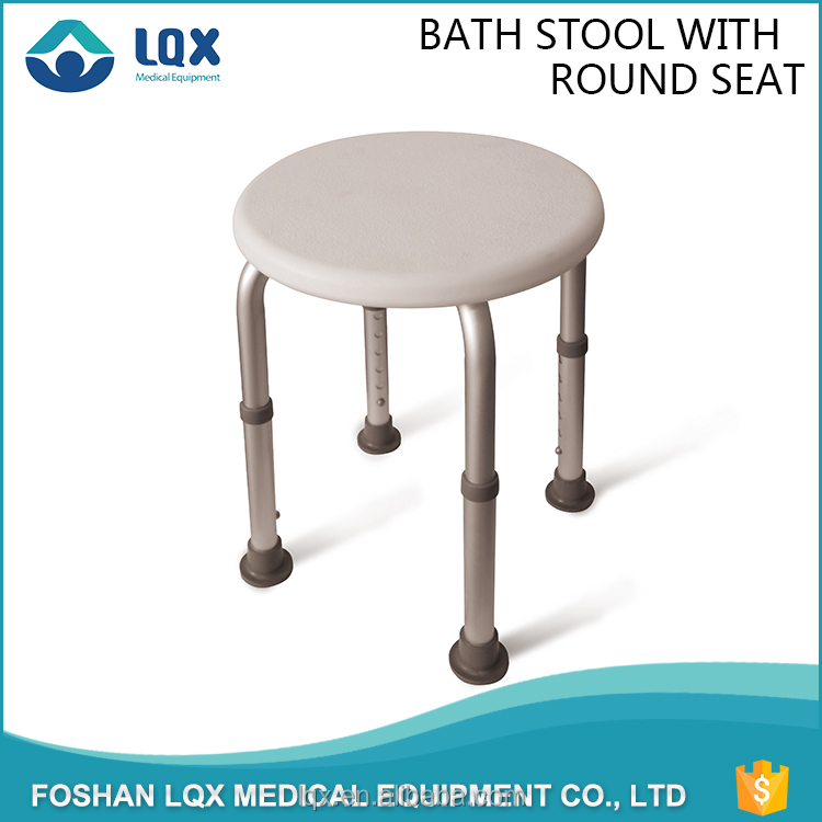 medical height adjustable non - slip feet secures aluminum lightweight shower stool bath chair seat for the elderly