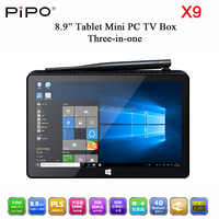 Mini PC PIPO X9 TV Box HTPC Player Windows 10 Android 4.4 Dual OS Booting Intel Z3736F 2GB RAM 32GB SSD WiFi Bluetooth 4.0
