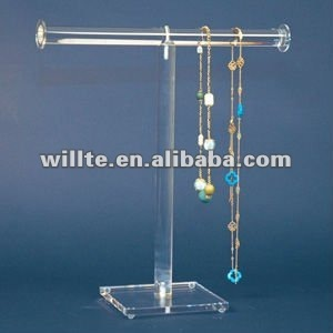 Factory t-bar plexiglass bracelet display