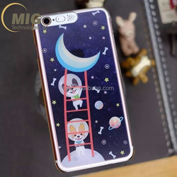Astronautic Space series phone call flahing shiny led tube light mobile phone case for iphone 6 / 6s / 6 plus / 6s plus