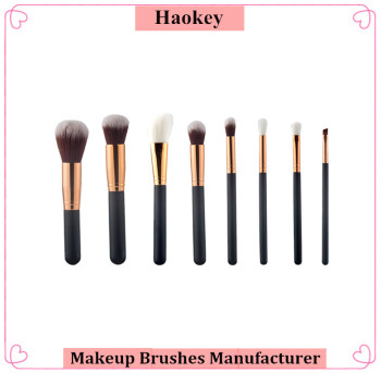 2016 High quality Black and rose gold Foundation Makeup brush set