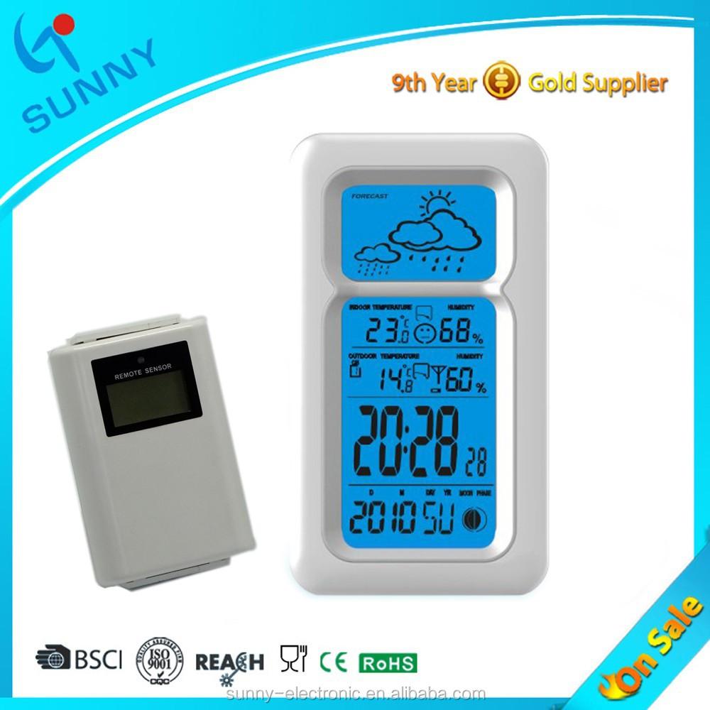 ensoleill 233 num 233 rique rf 433 mhz sans fil station m 233 t 233 o horloge avec capteur ext 233 rieur horloge de