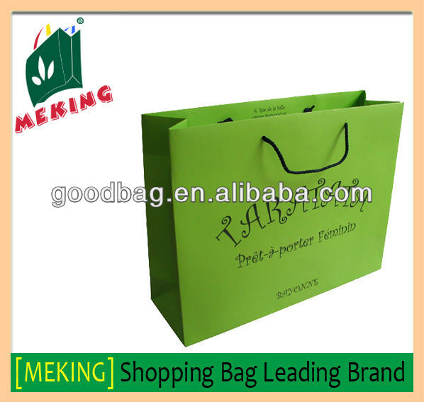 Personalized luxury brand paper bag gz for shopping