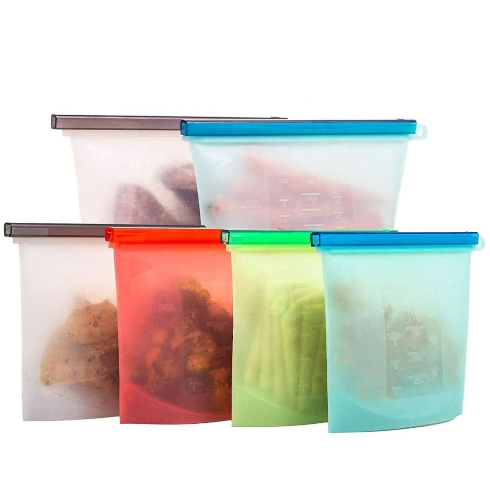 OEM Custom Top Sell Silicone Food Storage Bag Reusable BPA Free Eco-friendly Food Storage Bag