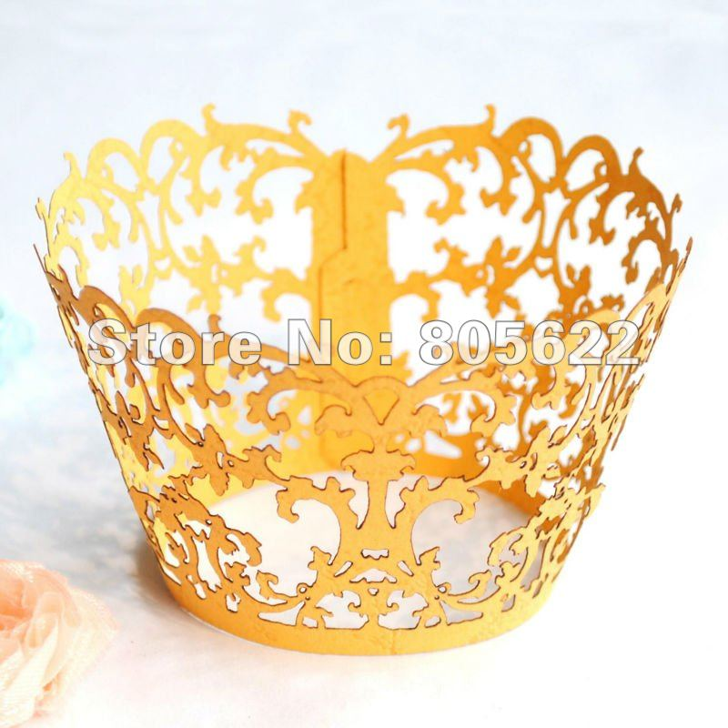 hot sell flower tree delicate paper personalized customized disposable laser cut individual cupcake holder