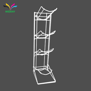 Sturdy flooring retail iron steel metal wire 4 tier 5 gallon water bottle displays rack for sunglasses fruit