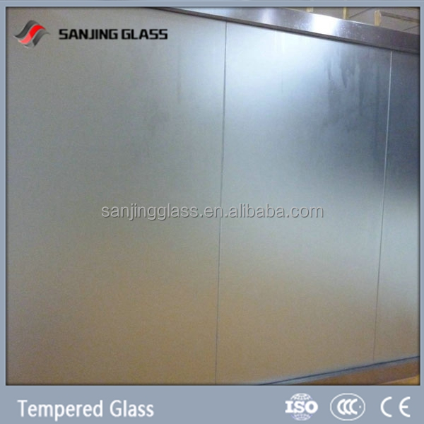 Tempered glass bathroom frosted glass