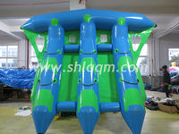 inflatable flying fish boat for water challenge