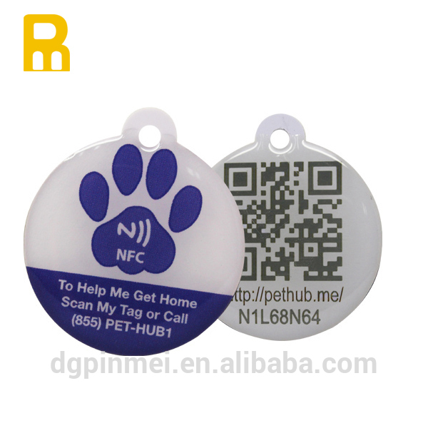 Personalized service pet tag id with colorful logo