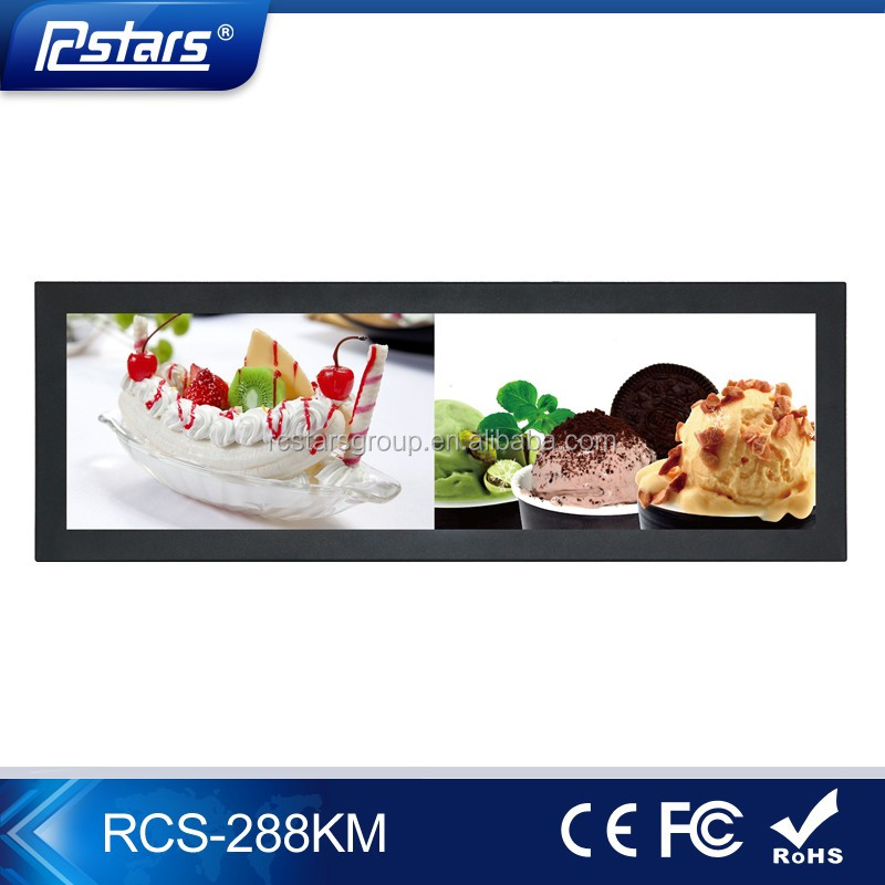 Rcstars 28.8 inch ultra-wide lcd monitor bar stretched lcd screen for digital signage