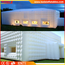 Giant White Inflatable Marquee for Activity, Mobile Luxurious Inflatable Tent for Wedding Party