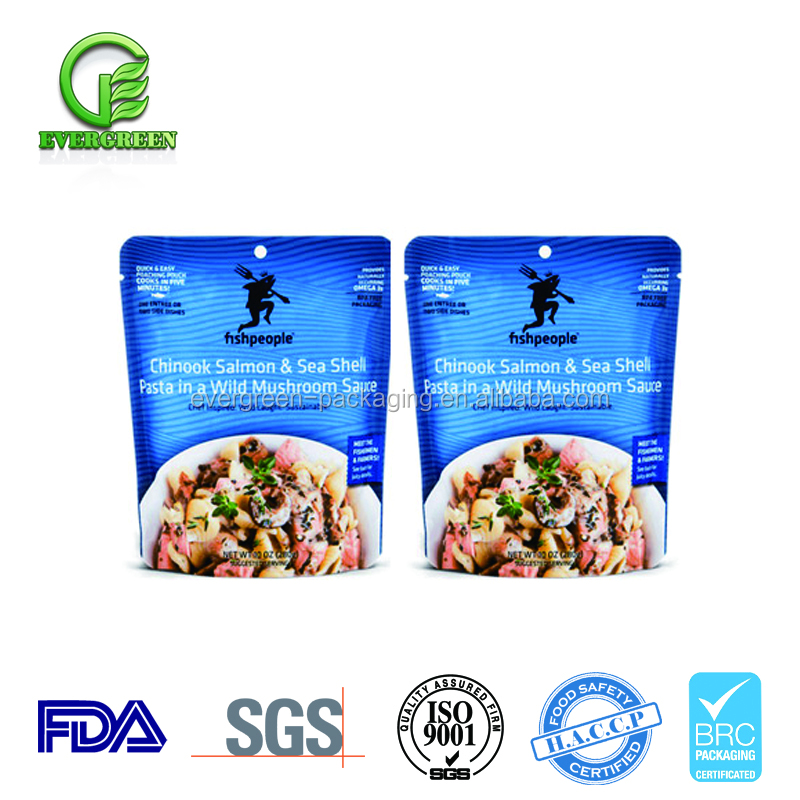 Wholesale High Temperature Plastic Microwaveable Vacuum Ready to Eat Food Packaging Retort Pouch