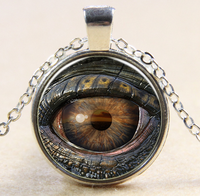 Metal/Glass turkey evil eye necklace wholesale from Factory