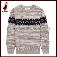 Children's boys computer knit motley color yarn dyed sweater pullover