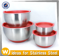1QT/1.50QT/3.50QT/5.50QT Set of 4pcs Stainless Steel Mixing Bowl
