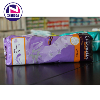 Wholesale made in china premium sanitary napkin with release paper