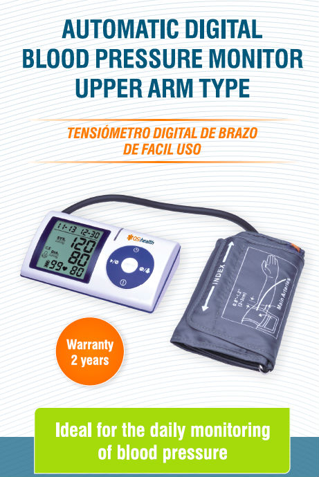 automatic digital blood pressure monitor upper arm type