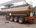3 axle chemical liquid truck for hydrochloric acid storage tank semi-trailer