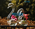Swan shaped fashionable glass vase gift
