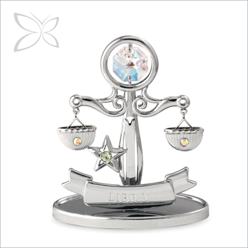 High Craftmanship Sumptuous Chrome Plated Metal Libra Zodiac
