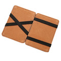 Custom business pu leather credit rfid card holder