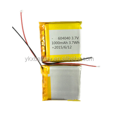 -40 Degrees Centigrade massage device battery 604040 3.7v 1000mah li ion lipo lithium low temperature polymer battery