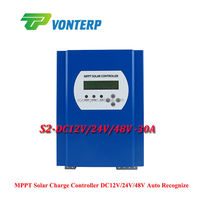 LCD RS232 LAN MPPT 30A 48V mppt solar charge controller / Solar battery charger controller,Vented, Gel, NiCd battery Etc