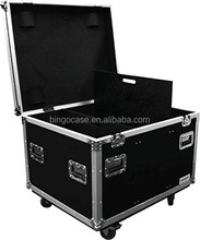 Large Capacity Rolling Road Trunk Flight Road Case with Caster Kit and Stackable Caster Dish