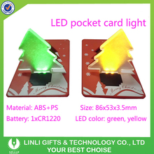 Mini Advertising LED Pocket Light,Flashing Card Light,Plastic Card Light For Fair