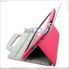 Alibaba in spanish china with back hanging litchi pattern stand Leather tablet case for ipad 2 case