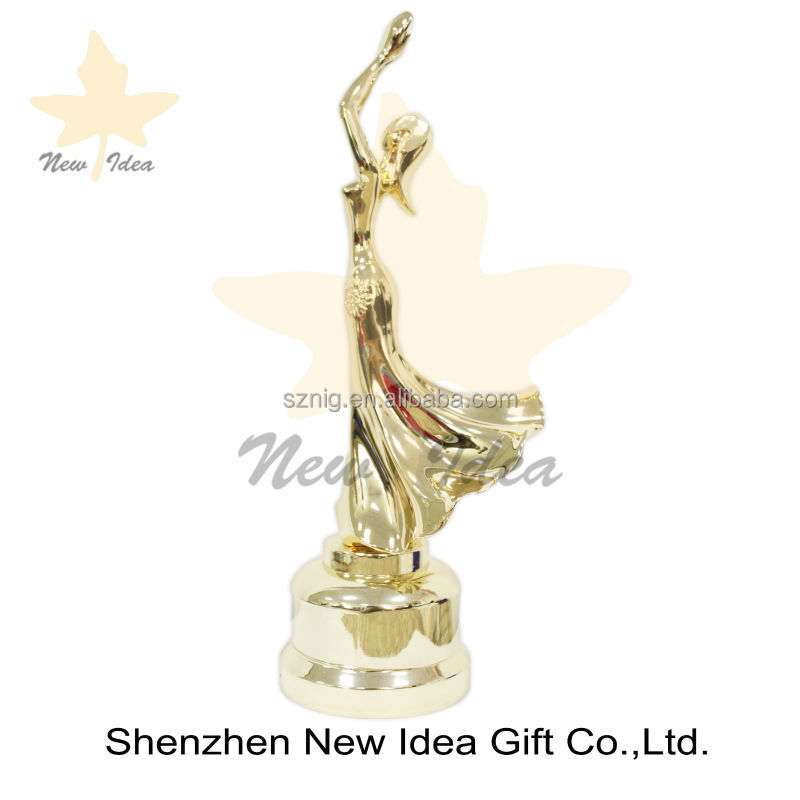 customized figures fairy woman replica metal trophy awards