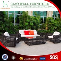 Luxury round rattan large garden furniture 6 seater sofas and wicker outdoor furniture