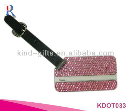 Crystal Luxury PU Luggage Tags For Sale