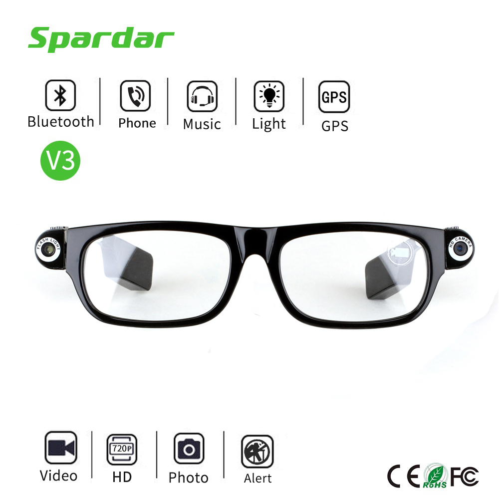 Portable Digital Camera Glasses Video Recorder with Bluetooth