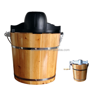4qt wood bucket Ice Cream Maker