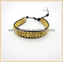 Three Layers Gold Nugget Bracelet Facotry Direct Wholesale