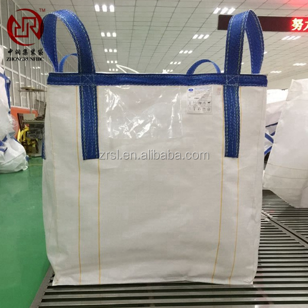 750kg 1 ton 2 ton widely used waterproof pp jumbo bag/pp big bag/ton bag (for sand made in China factory with OEM logo