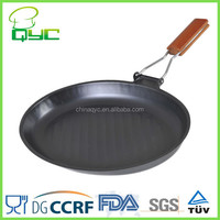 Non-Stick Carbon Steel Oval Grill Frying Pan