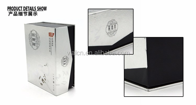Top quality packaging boxes white and black cardboard folding magnetic closure gift box