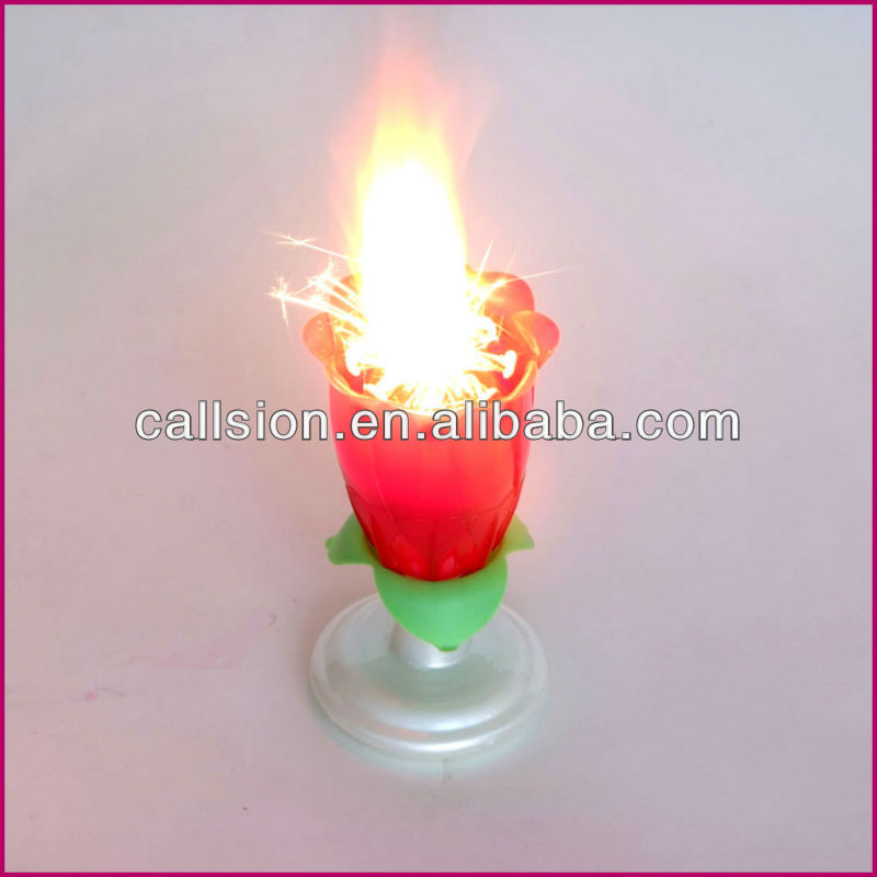 Melody flower musical Candle