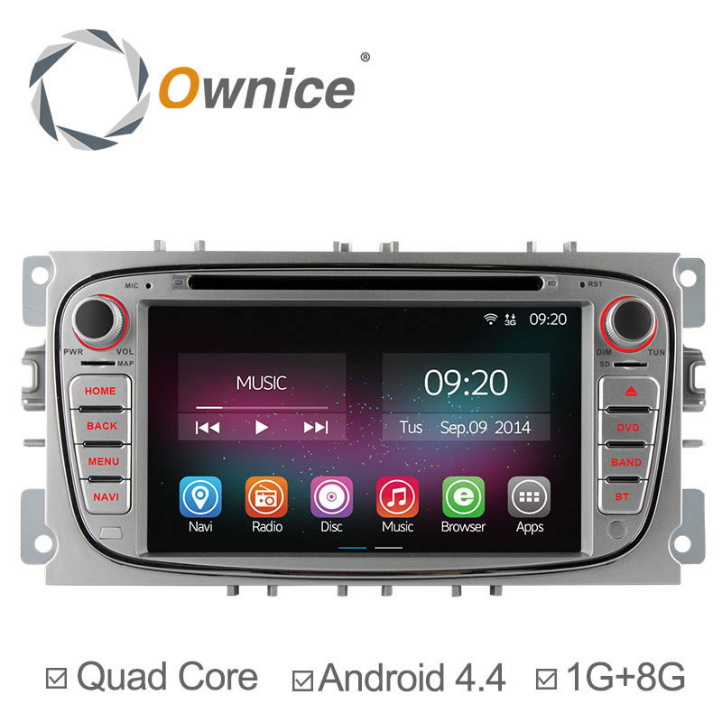 Ownice Pure Android 4.4.2 Quad Core Car DVD For Ford Focus Mondeo S-Max cmax GPS Navigation Radio Support TPMS OBD Built-in WiFi
