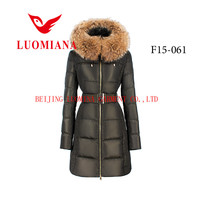 european plus size 7 XXXXL female winter long feather down coats for women in winter with collar apparel clothes garment