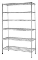 11L- Multi-purpose 6 Tiers Chrome Metal Wire Rack for Showroom Display , NSF Approval