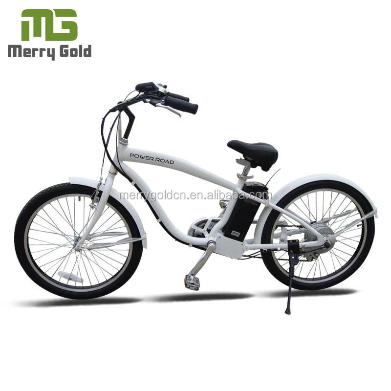 factory price adult chopper bicycle beach cruiser electric bike with blue rim for sale w